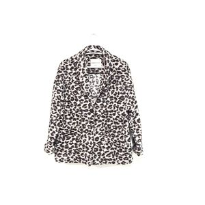 CLEMENTS RIBEIRO Leopard Animal Print Coat size 10